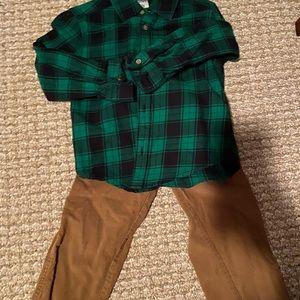 Carters 3T button down shirt and corduroy pants